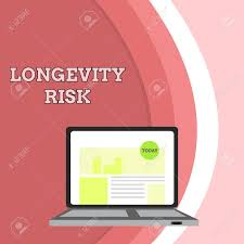 Conceptual Hand Writing Showing Longevity Risk Concept Meaning