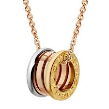 aaa bvlgari b zero1 necklace 3 gold ring pendant cl857654 replica