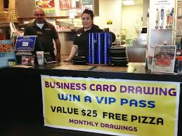 round table pizza enter our monthly business card drawing