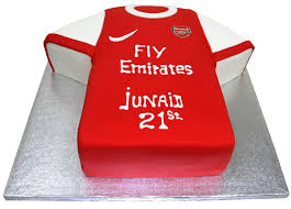 Arsenal Shirt Shaped Cake
