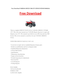 yamaha grizzly 660 atv service repair manual pdf pdf archive Grizzly 660 Wiring Diagram these manuals make it easy for any skill level with these very easy to follow, step by step instructions! instant download means no shipping cost or waiting grizzly 660 wiring diagram