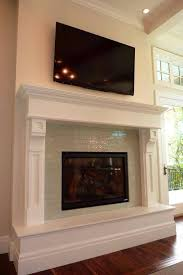 glass tile fireplace designs. glass subway tile fireplace surround designs i