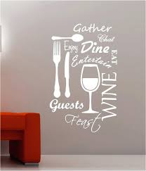 wall  on wall art decals quotes for kitchen with wall sayings for kitchen vinyl wall art decals stickers quotes