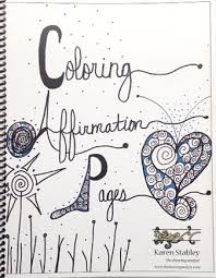 Small Picture Coloring Affirmation Pages by Karen Stabley Colour with Claire