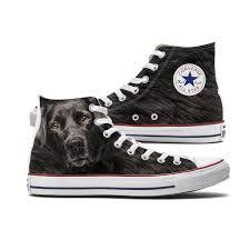 converse high tops. shoes - big face black lab converse high tops h