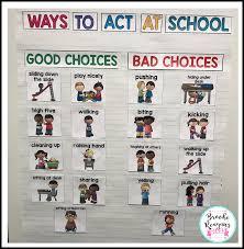 Make A T Chart Good And Bad Choices Preschool Social Skills Social