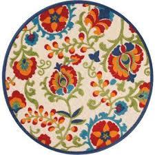 round indoor outdoor area rug