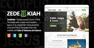 Free Church Website Templates Inspiration Church Templates From ThemeForest