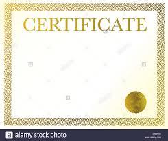 Un Certificado En Blanco Listo Para Ser Llenado Con Su Texto