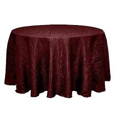 delano 120 inch round tablecloth in burdy from bed