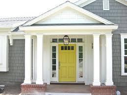 white front door yellow house. Astonishing Best Front Door Color For Yellow House Ideas White A