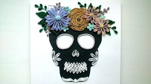Quilling Home Decor Halloween Ideas Quilling Skull Flowers Paper Quilling Crafts
