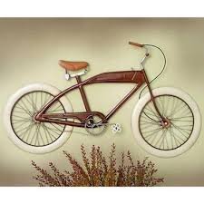 vintage bicycle metal wall art on cycling metal wall art with vintage bicycle metal wall art transportation decor pinterest