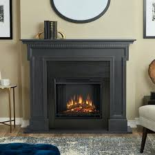 electric fireplace grey by real flame calie white