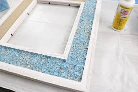 adhering glass s to a frame with mod podge ultra