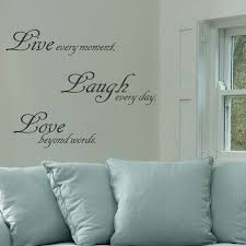 live love laugh wall art quote stickers