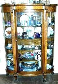 curio cabinet glass china replacement curved for antique curio cabinet
