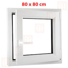 Kunststofffenster 80x80 Cm 800x800 Mm Weiß Dreh Kipp Fenster