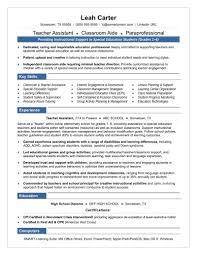 Teachers Aide Resume Examples Teacher Assistant Sample Skills