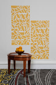 how to use an all over wall stencil