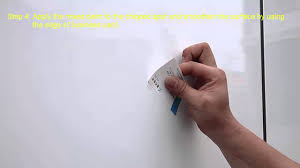 steps of applying touch up paint on vitreous enamel panel