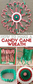 25 Candy Cane Crafts  DIY Decorations With Candy CanesCandy Cane Wreath Christmas Craft