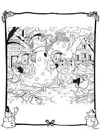 Kleurplaat Kerst Met Kwik Kwek En Kwak Wielostditopnl
