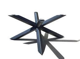 metal pedestal table base. Industrial Style Table Base, Modern Dining Table, Metal Base Steel Black Welded Conference Pedestal A