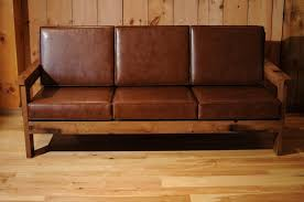 wooden frame sofa with cushions. Delighful Sofa Reclaimed Wood Frame Couch With Leather Cushions With Wooden Sofa E