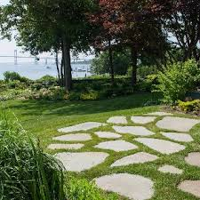 flagstone patio with grass. Stepping Stone Patio Flagstone With Grass