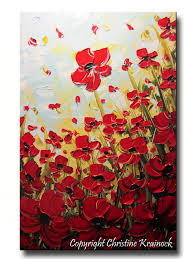 original art abstract painting red poppies painting textured poppy flowers paintings spring on red poppy flower wall art with original art abstract painting red poppies painting textured poppy
