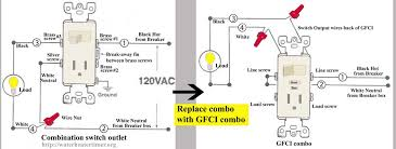 combination switch receptacle wiring diagram wiring diagram how to install and troubleshoot gfci