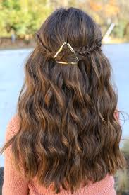 cute girls hairstyles. barrette tieback | cute girls hairstyles b