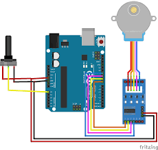 stepper motor control with potentiometer and arduino Nema 23 Specs circuit diagram for controlling stepper motor using potentiometer