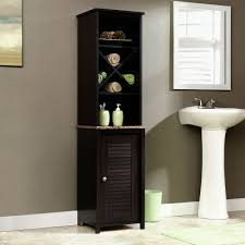 Sauder Kitchen Furniture Amazoncom Sauder Linen Tower Bath Cabinet Cinnamon Cherry