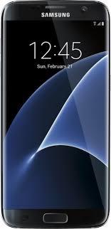 samsung s7. samsung - galaxy s7 edge 32gb black onyx (verizon) front_zoom