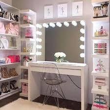 desk in walk in closet. Modren Closet Take A Simple Desk And Transform It Into The Perfect Makeover Vanity For  Bedroom Or Walkin Closet On Desk In Walk Closet E
