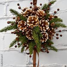 Painted Pine Cone Crafts For Thanksgiving Holiday  Family Holiday Christmas Pine Cone Crafts