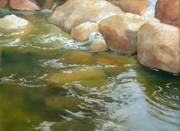 how to paint rocks and water watercolor landscape tutorialwatercolor