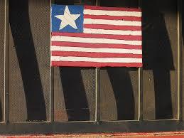 art homage jasper johns flag window silver dollar bar eloy arizona 2004 photograph by david lee guss