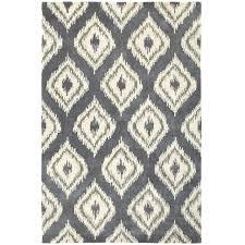 ikat area rug 5x7 diamond blue cream gray
