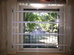 image of simple window security bars interior