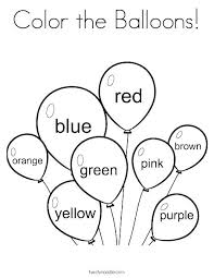 Free Birthday Balloon Coloring Pages Dubaimassage Info