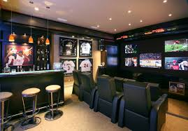 Best Man Cave Ideas And Designs For  Sports Bars Bar And - Unfinished basement man cave ideas