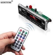 KEBETEME Bảng Giải Mã MP3 Bluetooth Không Dây, Máy Nghe Nhạc MP3 DC 12V Đầy  Màu Sắc Màn Hình LCD Âm Thanh Xe Hơi Kit Với Điều Khiển Từ Xa
