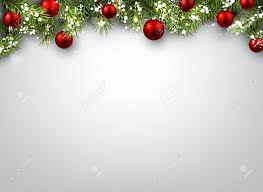 Christmas Background Christmas Background With Fir Branches And Red Balls