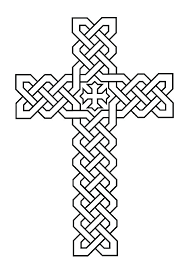 Cross Coloring Pages With Flowers Stained Glass Page Stations Of The