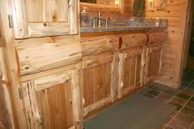 rustic cedar log panel cedar kitchen cabinets