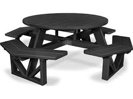 polywood park recycled plastic 53 round table