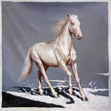 the white horse high quality hand painted original oil painting modern style artwork